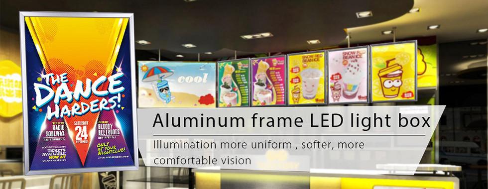 中国 最もよい 急なフレーム LED のライト ボックス 販売